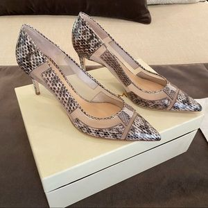 NEW M. Gemi Esatto Leather Snakeskin Pumps Size 9